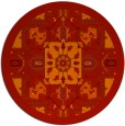 rug #1282243 | round red traditional rug