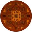 rug #1282255 | round red-orange popular rug