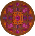 rug #1282263   round red-orange traditional rug