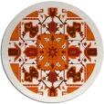 rug #1282267 | round red-orange borders rug