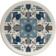 rug #1282291 | round blue-green borders rug