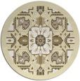 rug #1282303 | round yellow borders rug