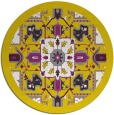 rug #1282307 | round yellow traditional rug