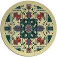 rug #1282315 | round yellow borders rug
