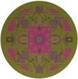 rug #1282327 | round pink borders rug