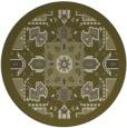 rug #1282331 | round light-green damask rug
