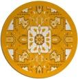 rug #1282335 | round light-orange borders rug