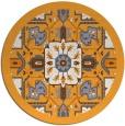 rug #1282343 | round light-orange borders rug