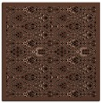 rug #1282731 | square black damask rug