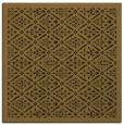 rug #1282735 | square mid-brown damask rug