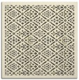 rug #1282739 | square black damask rug