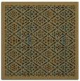 rug #1282743 | square black damask rug