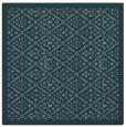 rug #1282787 | square blue-green damask rug