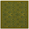 rug #1282791 | square green traditional rug