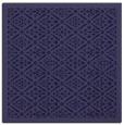 rug #1282799 | square blue-violet damask rug