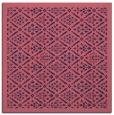 rug #1282807 | square blue-violet damask rug