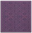 rug #1282811 | square blue-violet borders rug