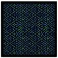 rug #1282919 | square black damask rug