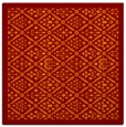 rug #1282927 | square red-orange traditional rug