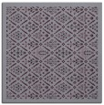 rug #1282971 | square purple damask rug
