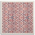 rug #1282975 | square red borders rug
