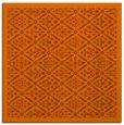 rug #1282991 | square red-orange borders rug