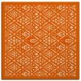 rug #1283003 | square red-orange traditional rug