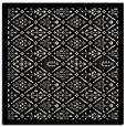 rug #1283007   square white borders rug