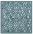 rug #1283027 | square blue-green borders rug