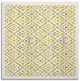 rug #1283043 | square yellow damask rug
