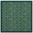 rug #1283051 | square blue-green borders rug