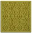 rug #1283055 | square light-green borders rug