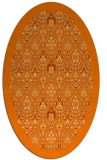 rug #1283083 | oval orange traditional rug