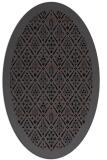 rug #1283091 | oval black borders rug