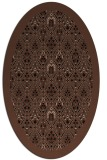 rug #1283099 | oval brown damask rug