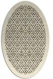 rug #1283107 | oval black traditional rug