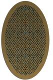 rug #1283111 | oval mid-brown borders rug