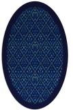 rug #1283115 | oval blue damask rug