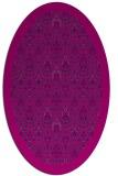 rug #1283119   oval pink damask rug