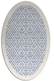 rug #1283131 | oval blue borders rug