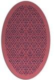rug #1283175 | oval blue-violet damask rug