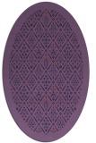 rug #1283179 | oval blue-violet borders rug