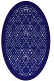 rug #1283183 | oval blue-violet borders rug