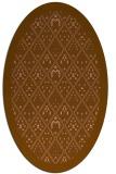 rug #1283235   oval brown damask rug