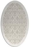 rug #1283247 | oval mid-brown borders rug