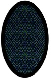 rug #1283287 | oval black traditional rug