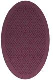 rug #1283327 | oval purple damask rug