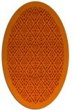 rug #1283347 | oval orange borders rug