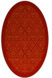rug #1283348 | oval damask rug