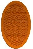 rug #1283359 | oval red-orange borders rug